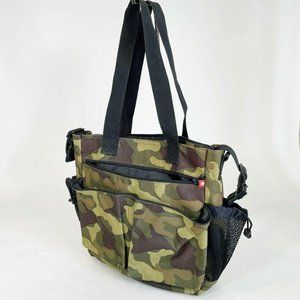 Skip Hop Spark Camo Camouflage Diaper Bag Tote Zip